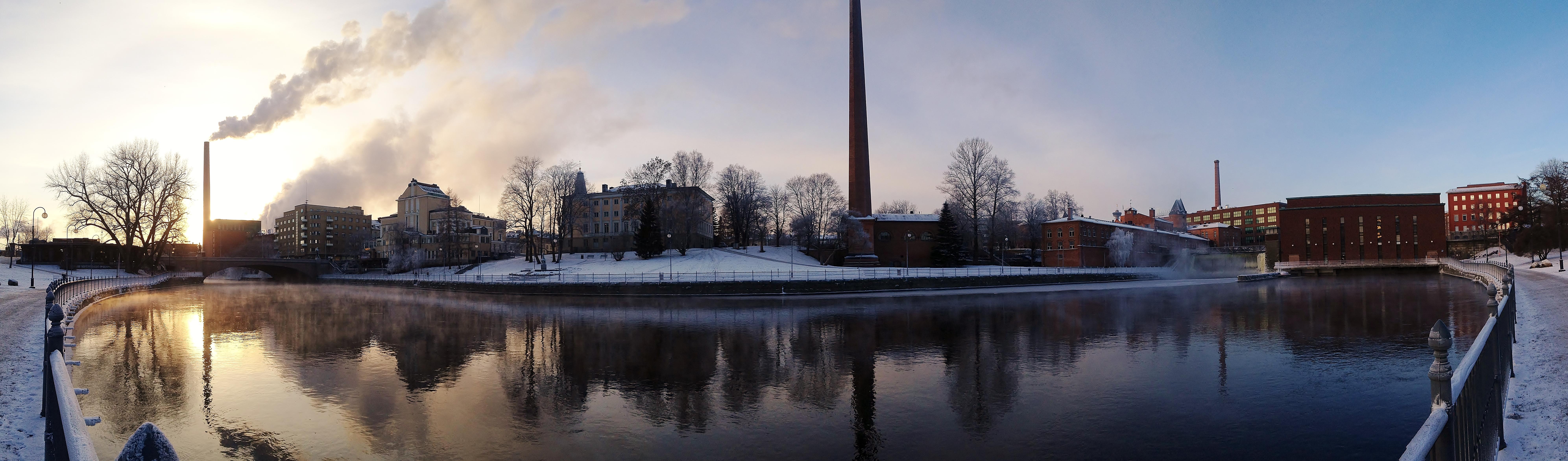 Tammerkoski rapids on 10th January 2016 panorama.jpg