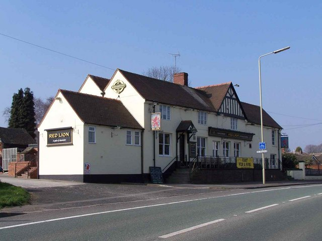 Creative Commons image of The Red Lion in Rugeley