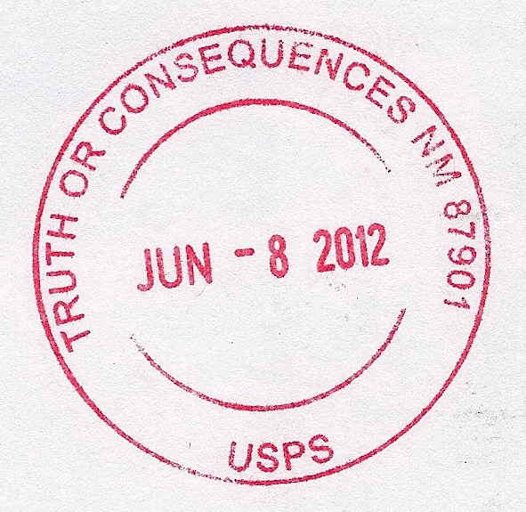 Truth Or Consequences (NM United States  City new picture : Truth or Consequences NM Postmark Wikipedia, the free ...