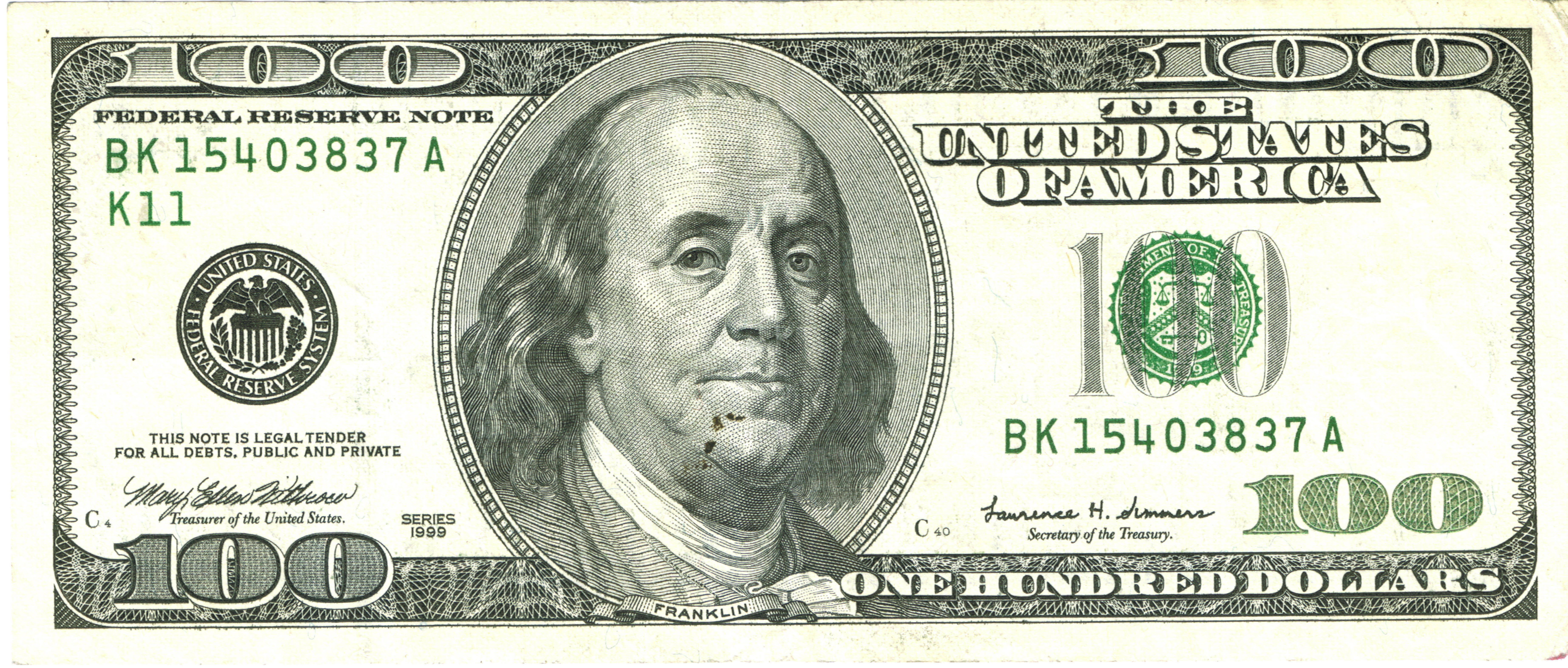 Fileu S Hundred Dollar Bill 1999 Jpg