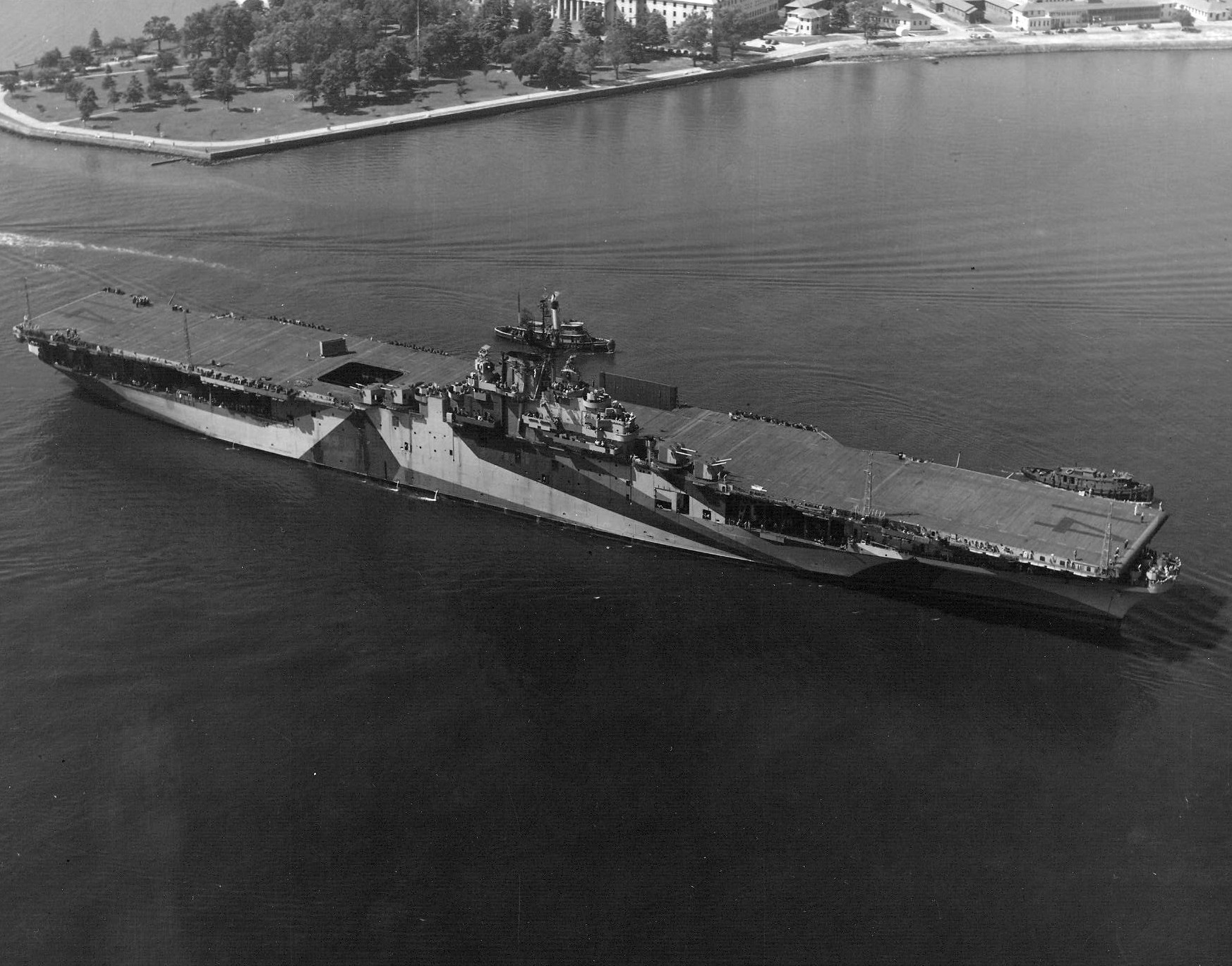 Mt Usn Otd In 1946 The Ticonderoga Cl Aircraft Carrier Uss Philippine