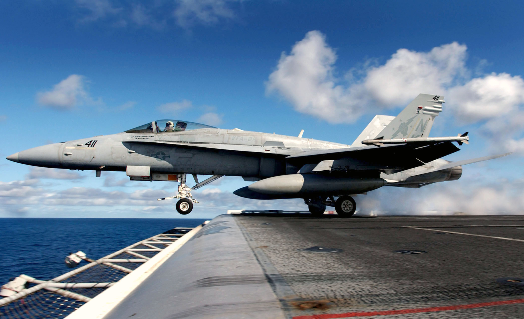 File:US Navy 031116-N-6213R-071 An F-A-18C Hornet assigned to the ...