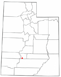Location of Circleville, Utah
