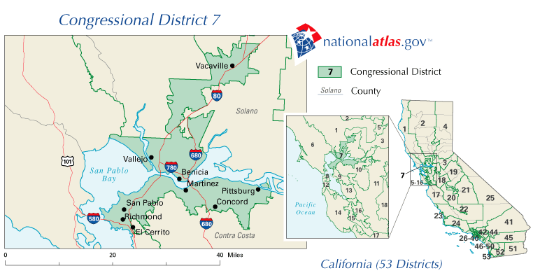 Redistricting California CAVotesorg California Voter Foundation - California us house of representatives district map