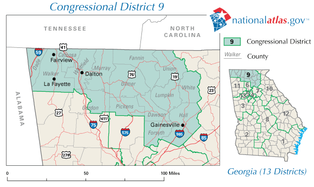 Map Of Georgia District 6.2010 United States House Of Representatives Elections In Georgia