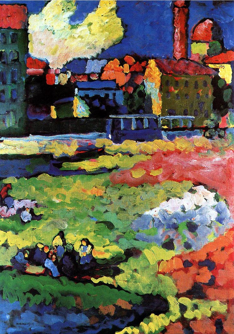 Vassily Kandinsky, 1908 - Munich-Schwabing with the Church of St-Ursula