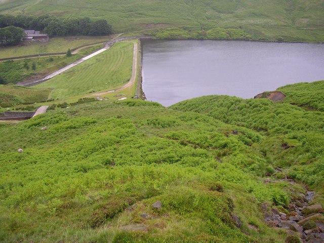 Wessenden Reservoir from Birk Moss, Marsden - geograph.org.uk - 480864