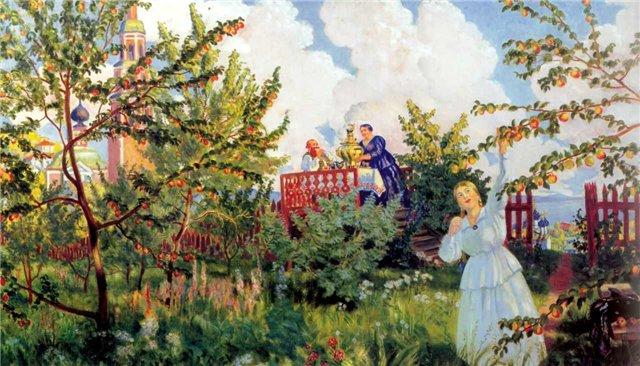 File:Кустодиев Яблоневый-сад 1918.jpg