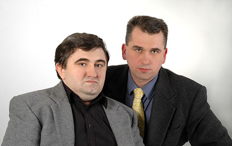 Олег и его брат Валентин, соавтор некоторых книг