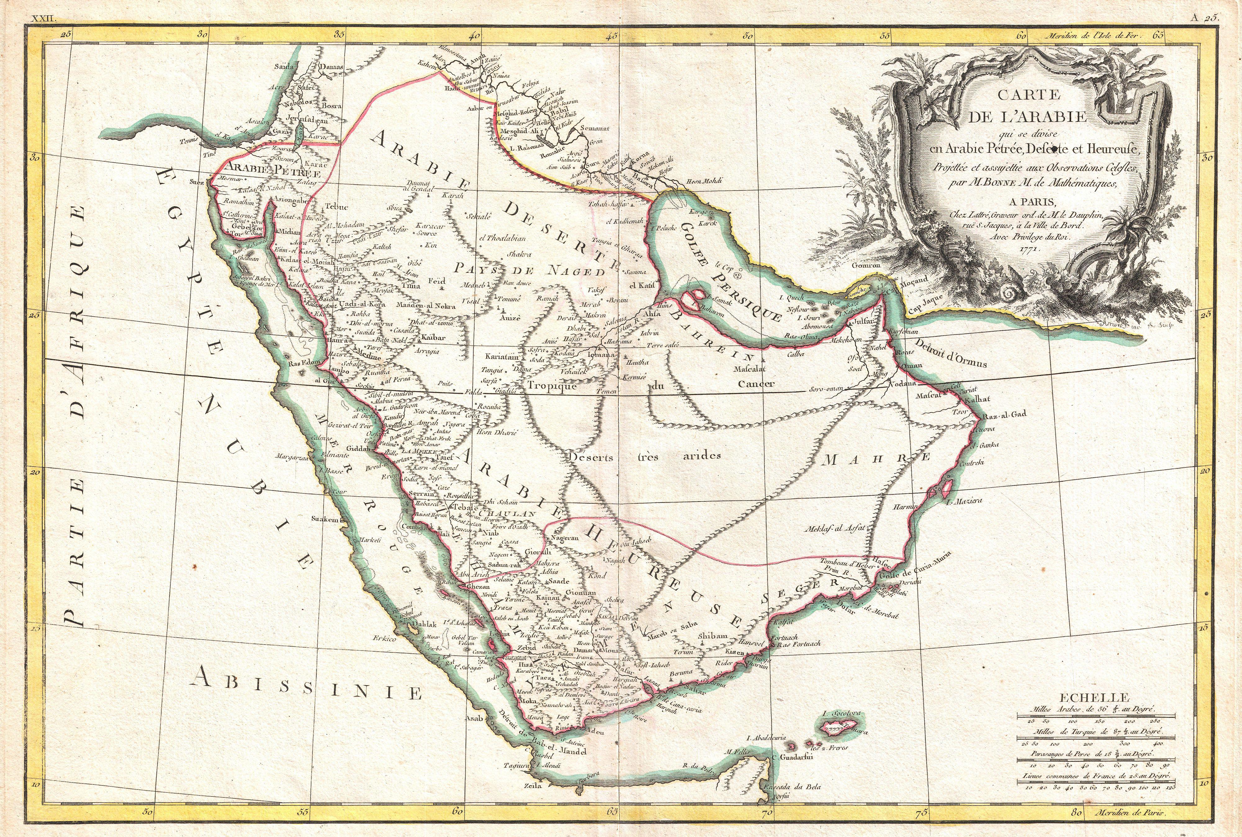 Vintage Maps of the Arabian Peninsula | International History Blog
