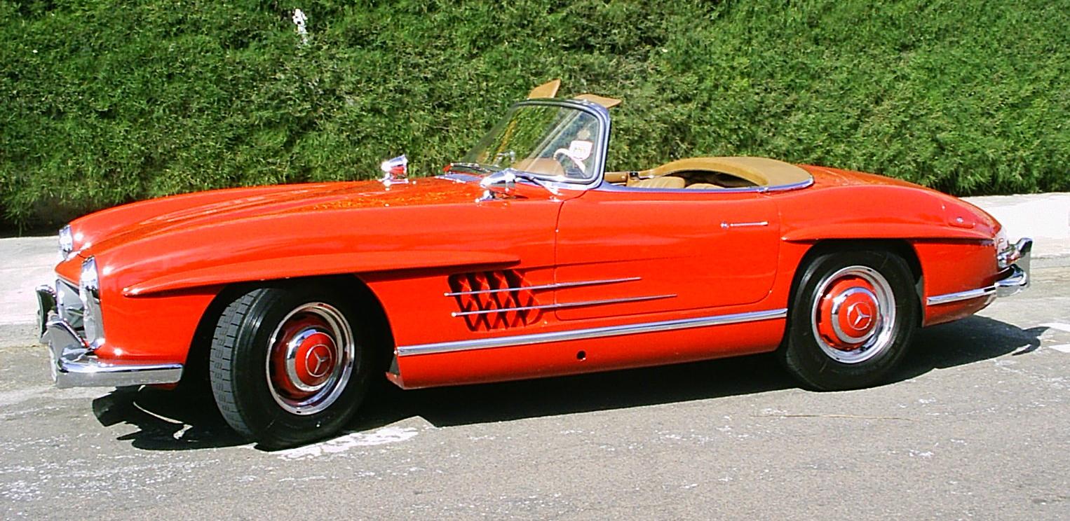 File 1957 mercedes benz 300sl red conv for 1957 mercedes benz 300sl