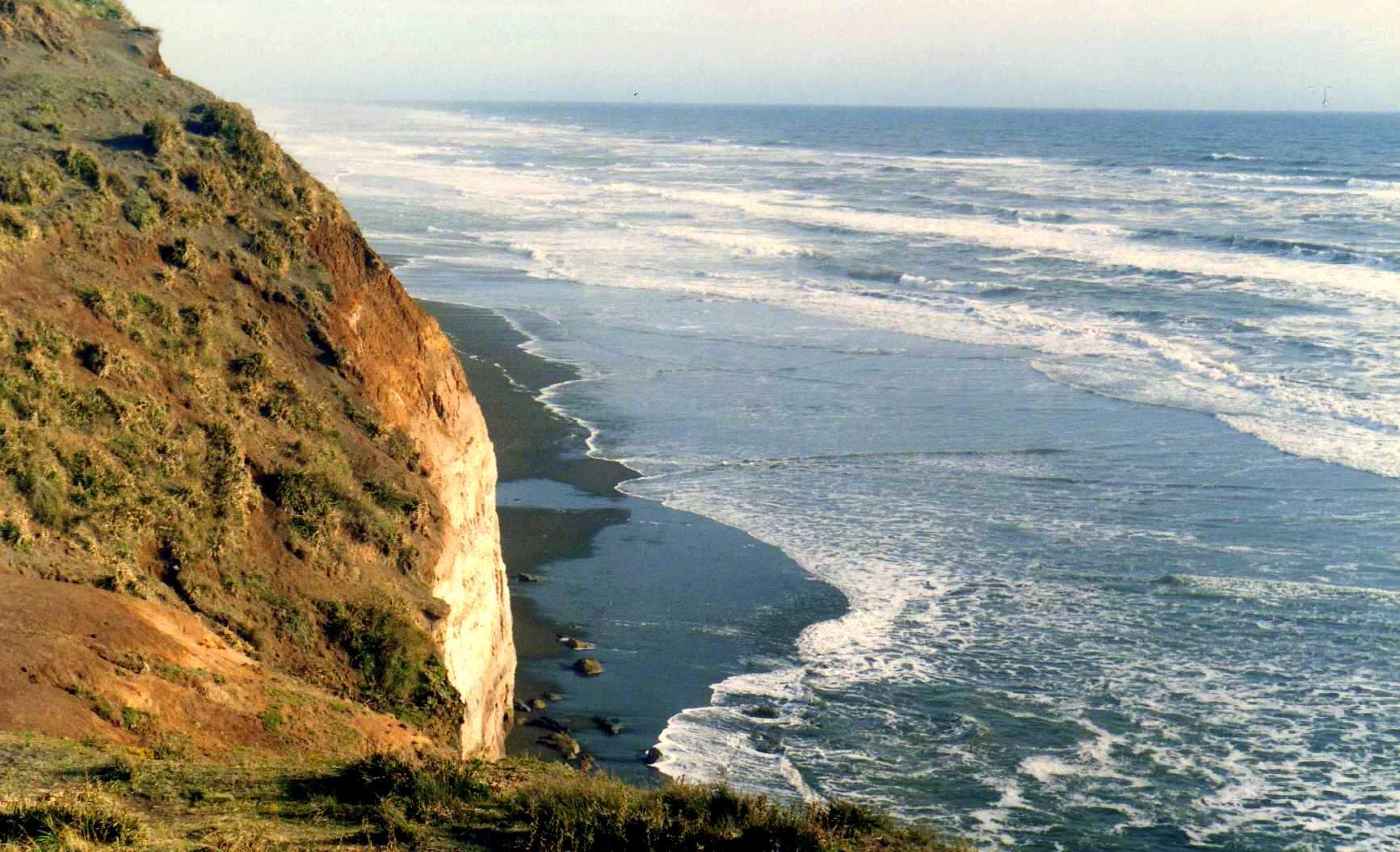 Fileacantilado Y Océano Pacífico Puerto Saavedra Chile