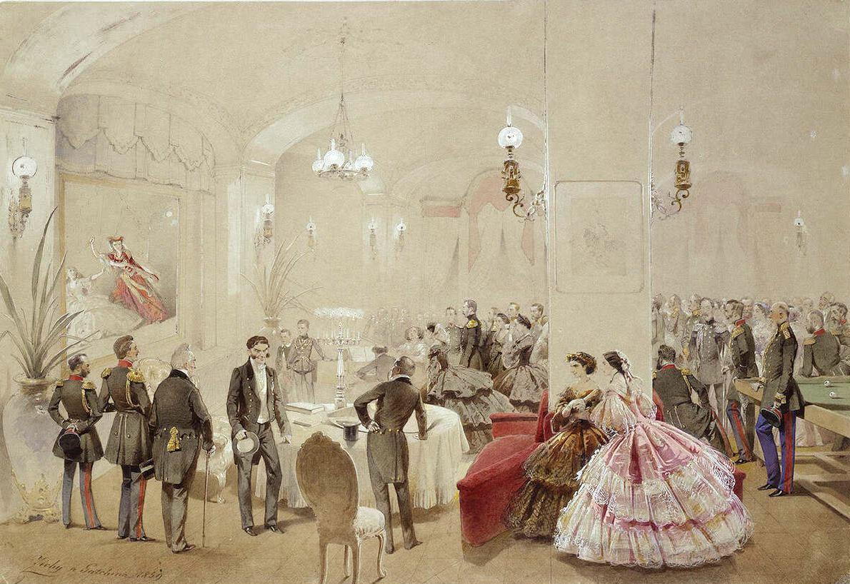 Александр II с придворными в Арсенальном зале Гатчинского дворца.jpg