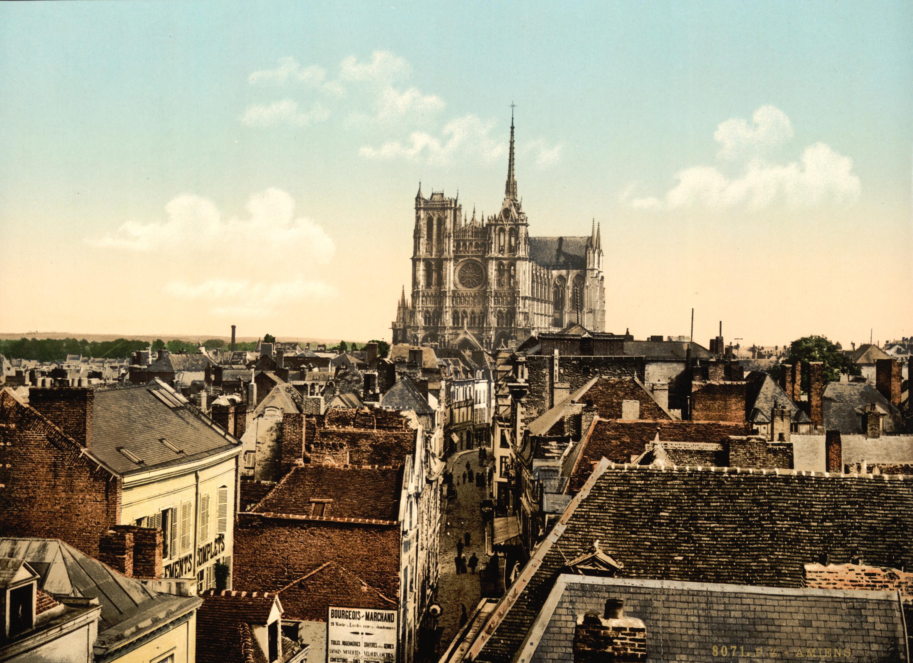 Amiens France  city photos gallery : Description Amiens, France, ca. 1895