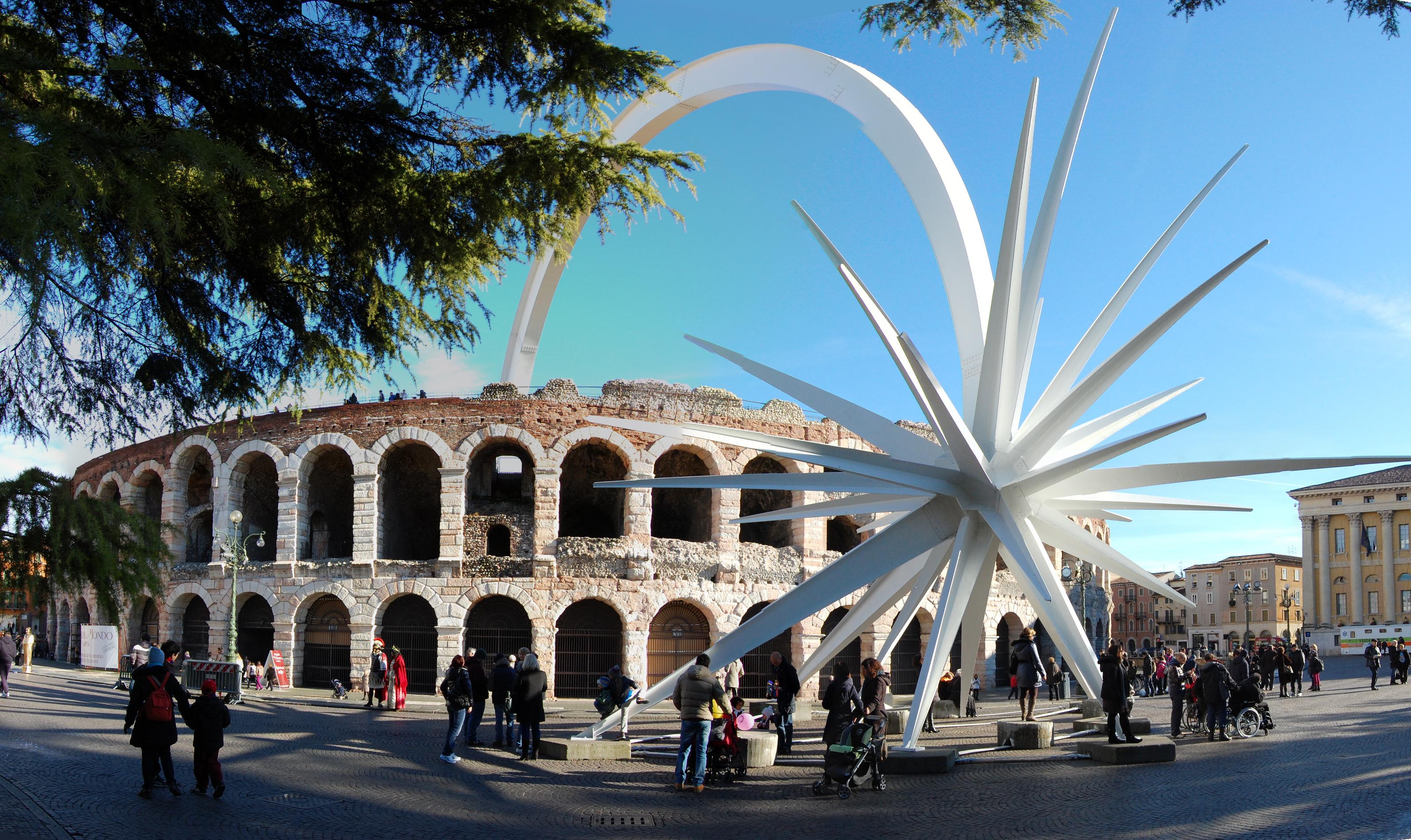 Stella Di Natale A Verona.File Arena Di Verona Ingresso Jpg Wikipedia