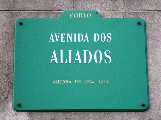 Imagem:Av Aliados placa (Porto).JPG