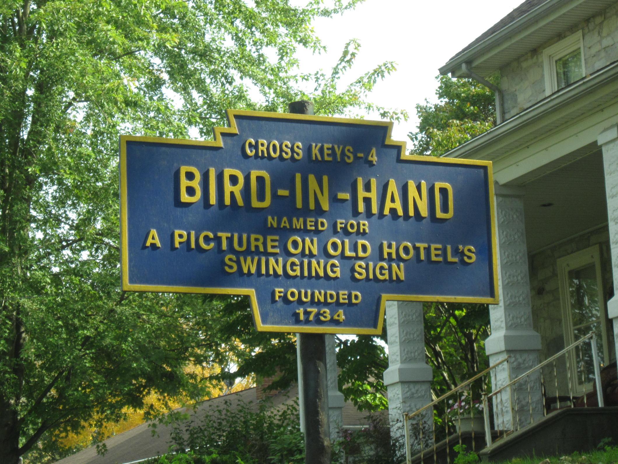 Bird In Hand Pa >> Bird In Hand Pennsylvania Wikipedia