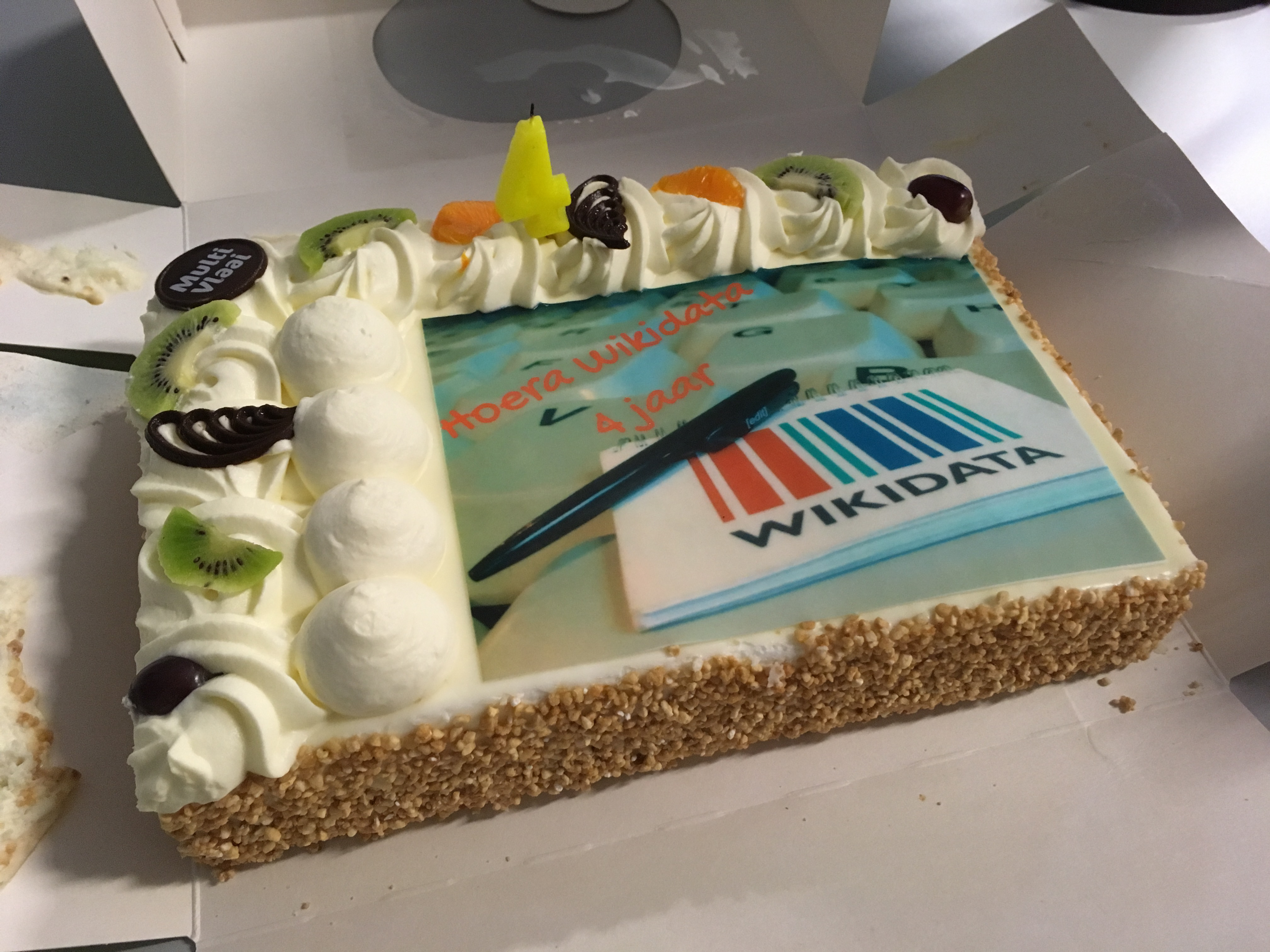 Filecake For Wikidatas Fourth Birthday At The Wmnl Officeg