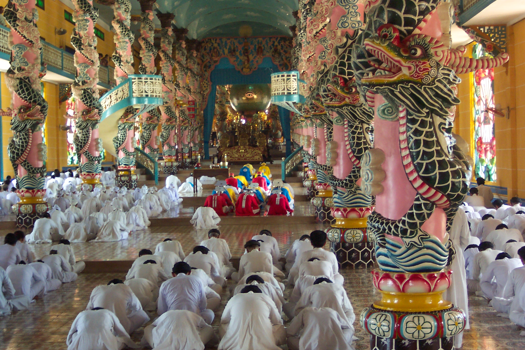 Tay Ninh Vietnam  city photo : Description Cao dai temple tay ninh vietnam