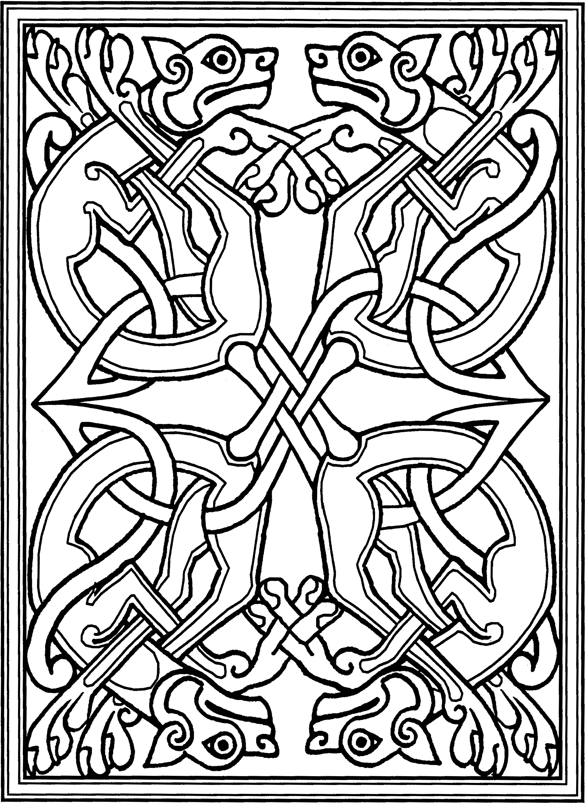 File celtic rectangle wikimedia commons for Book of kells coloring pages