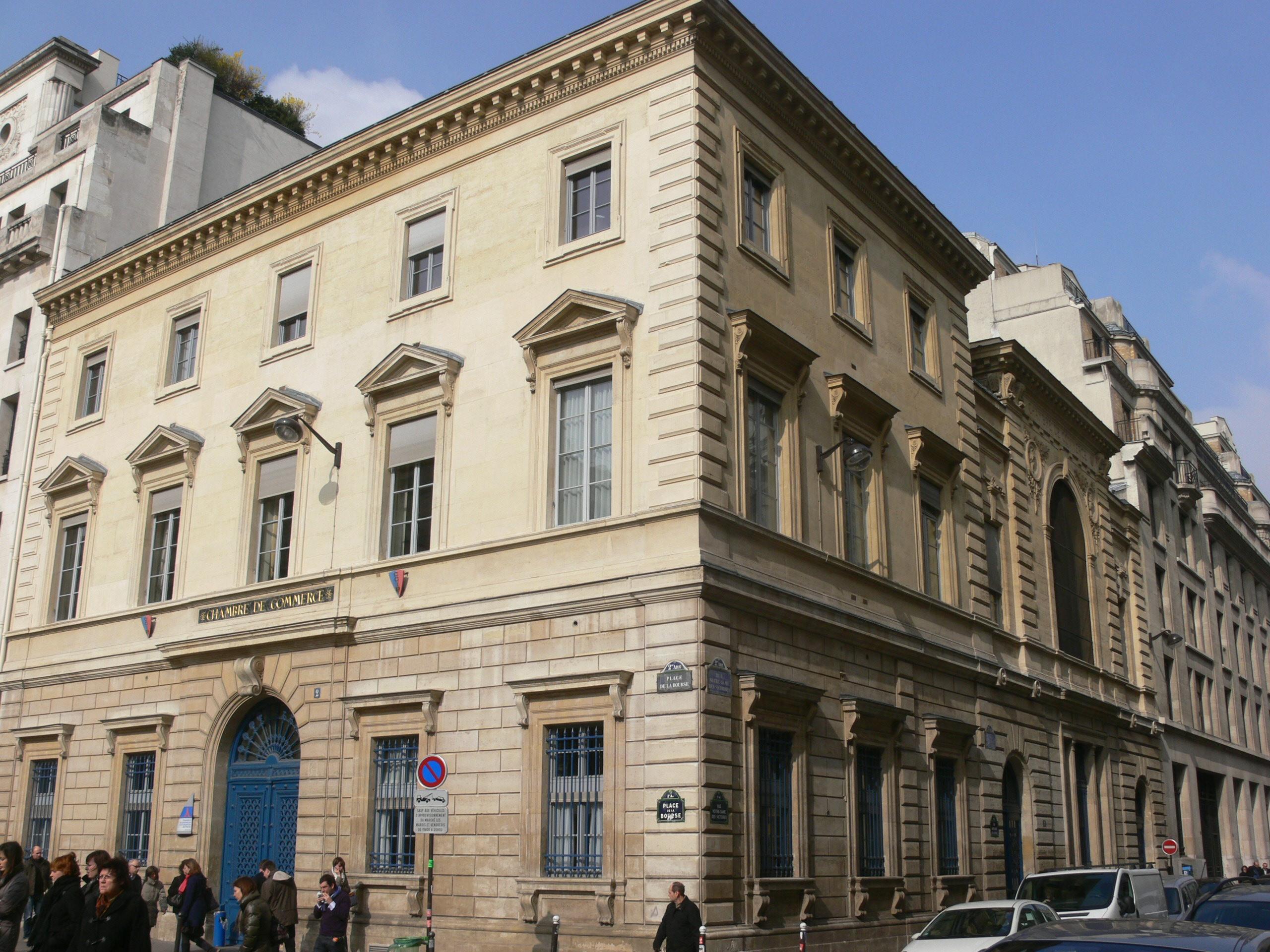 Fichier chambre de commerce angle place de la bourse rue nd des victoires 2 jpg wikip dia - Chambre des commerces mulhouse ...