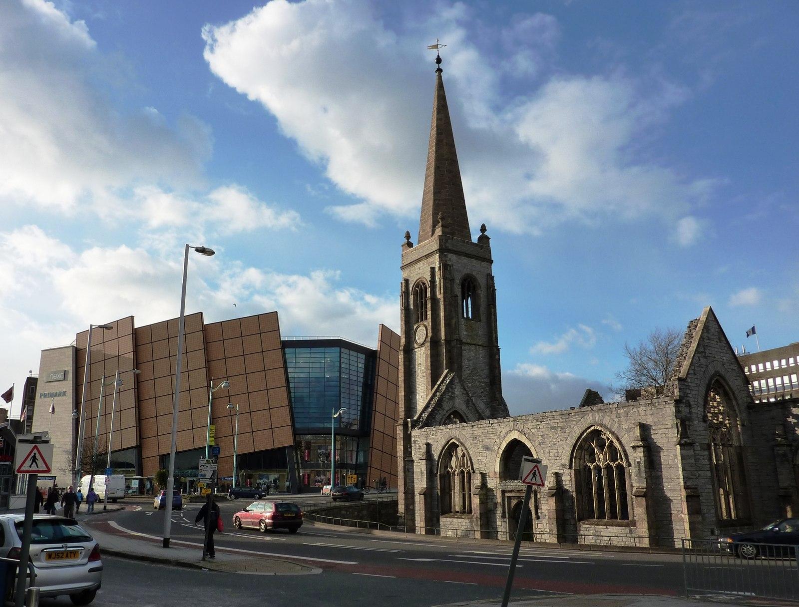 File Charles Church And Drake Circus Shopping Centre