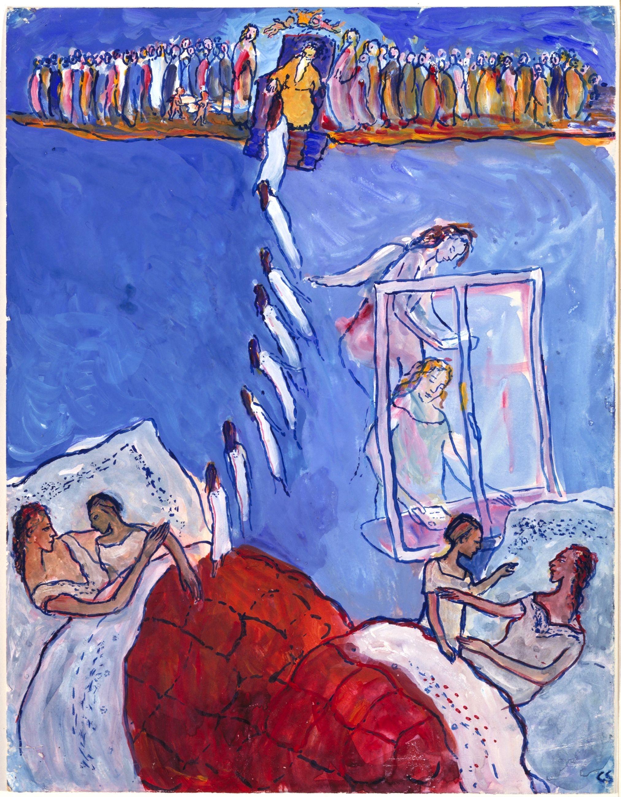 Charlotte Zusammen Mit Ihrer Mutter Franziska Im Bett. Das Bild Spielt Auf  Das Weihnachtslied Am Weihnachtsbaum Die Lichter Brennen An.