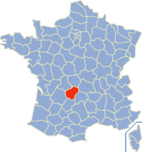 Situation de la Corrèze en France.