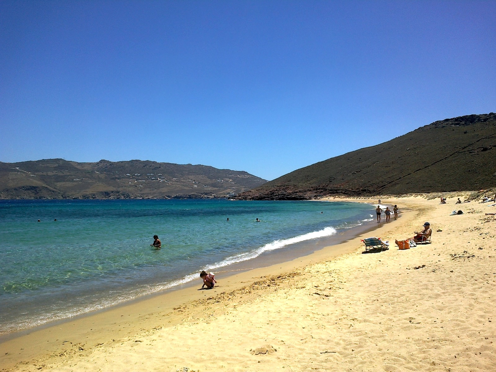 Panormos beach in Mykonos.