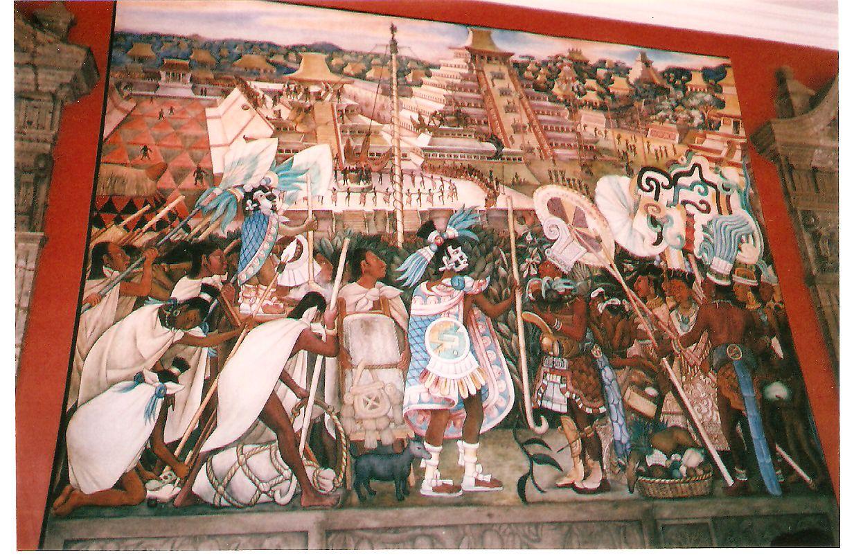 File diego rivera mural palacio nacional for Diego rivera tenochtitlan mural