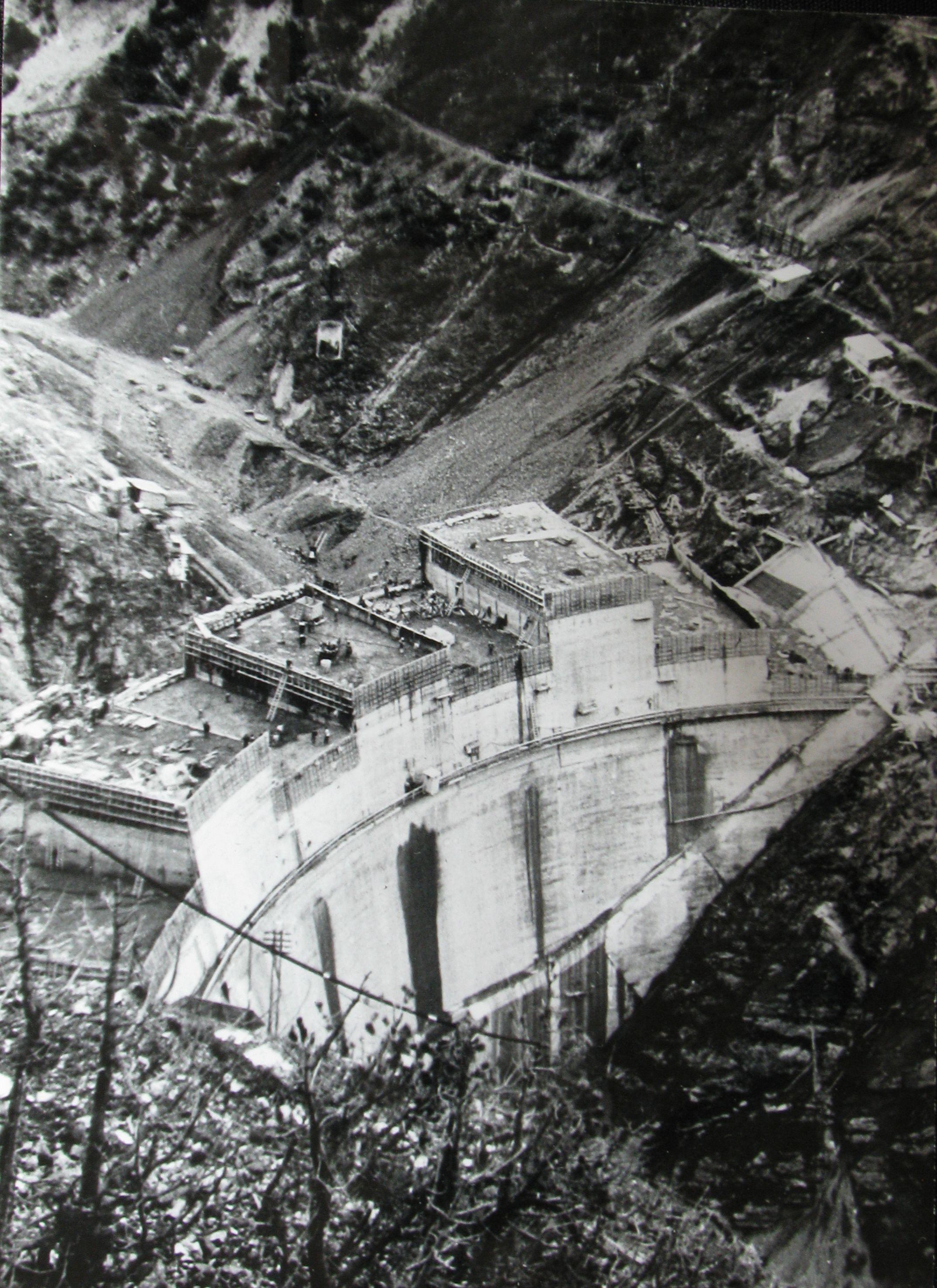 Descrizione diga di cancano ii in costruzione