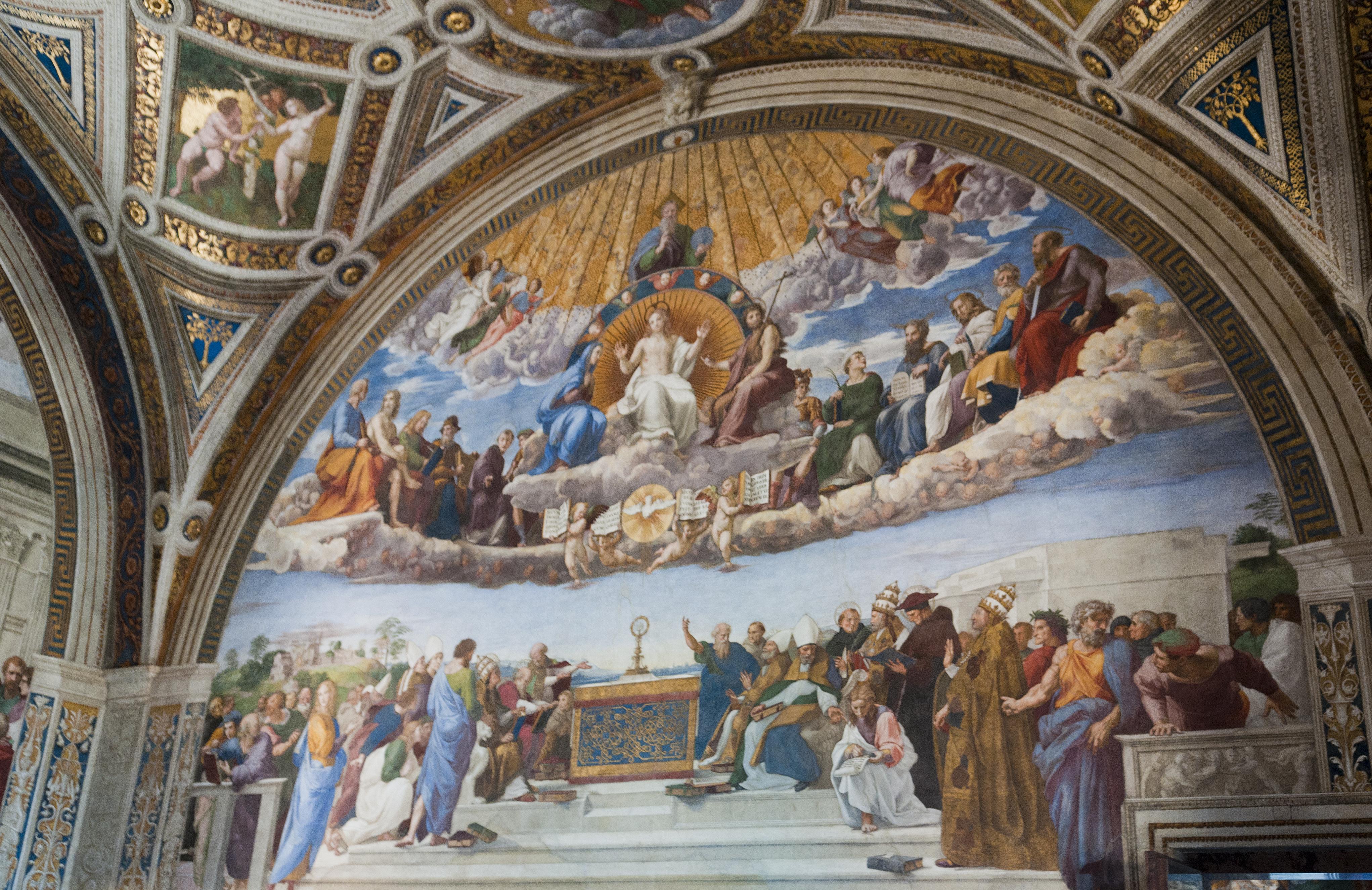 File:Disputation of the Holy Sacrament - fresco by ...
