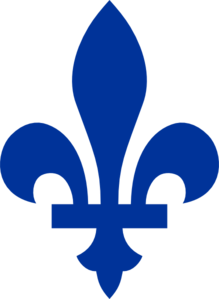Quebec's fleur-de-lis are most often blue or white.