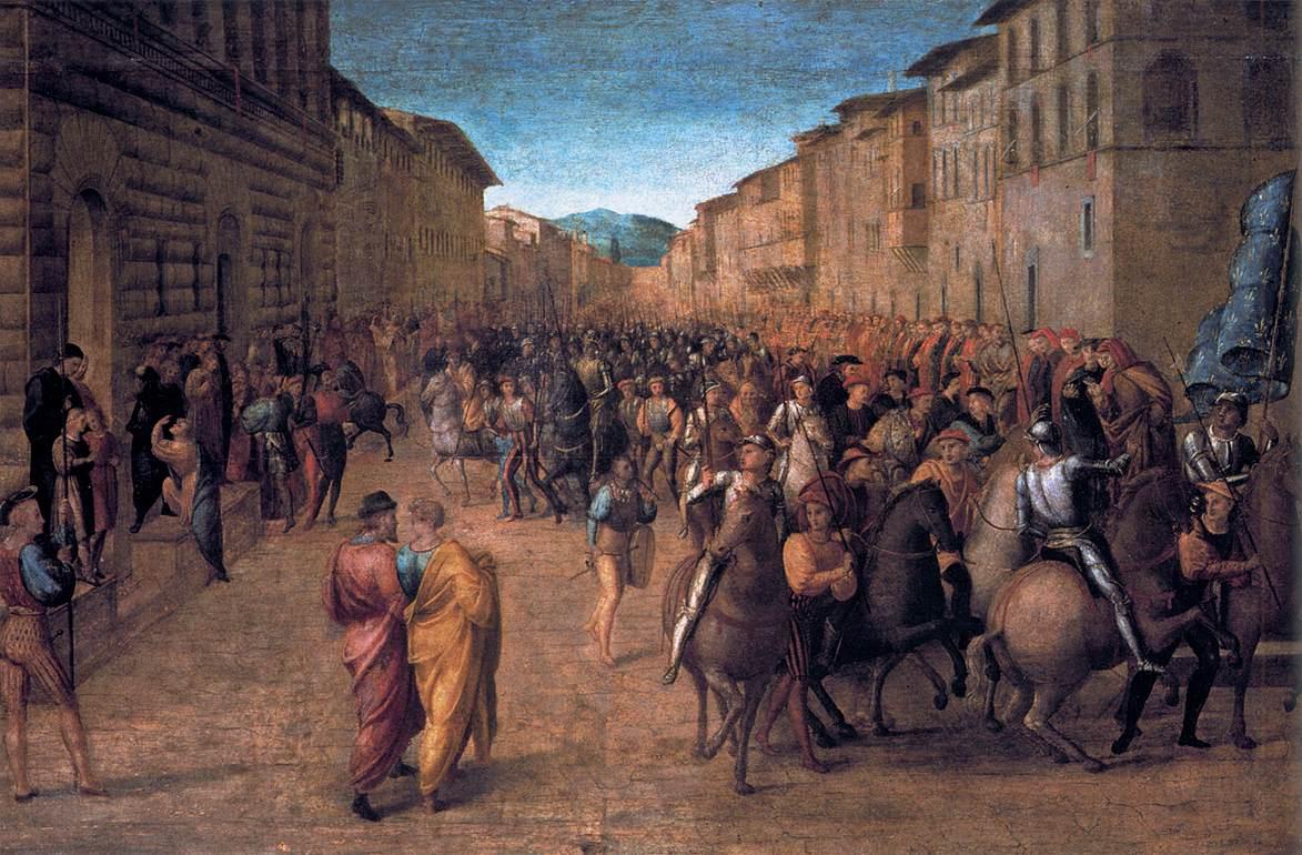 Francesco granacci, entrata di Carlo VIII a Firenze