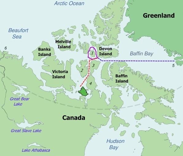 Beechey Island Canada Map