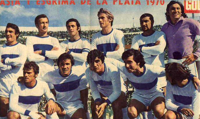 Formación del equipo Gimnasia y Esgrima La Plata de 1970.