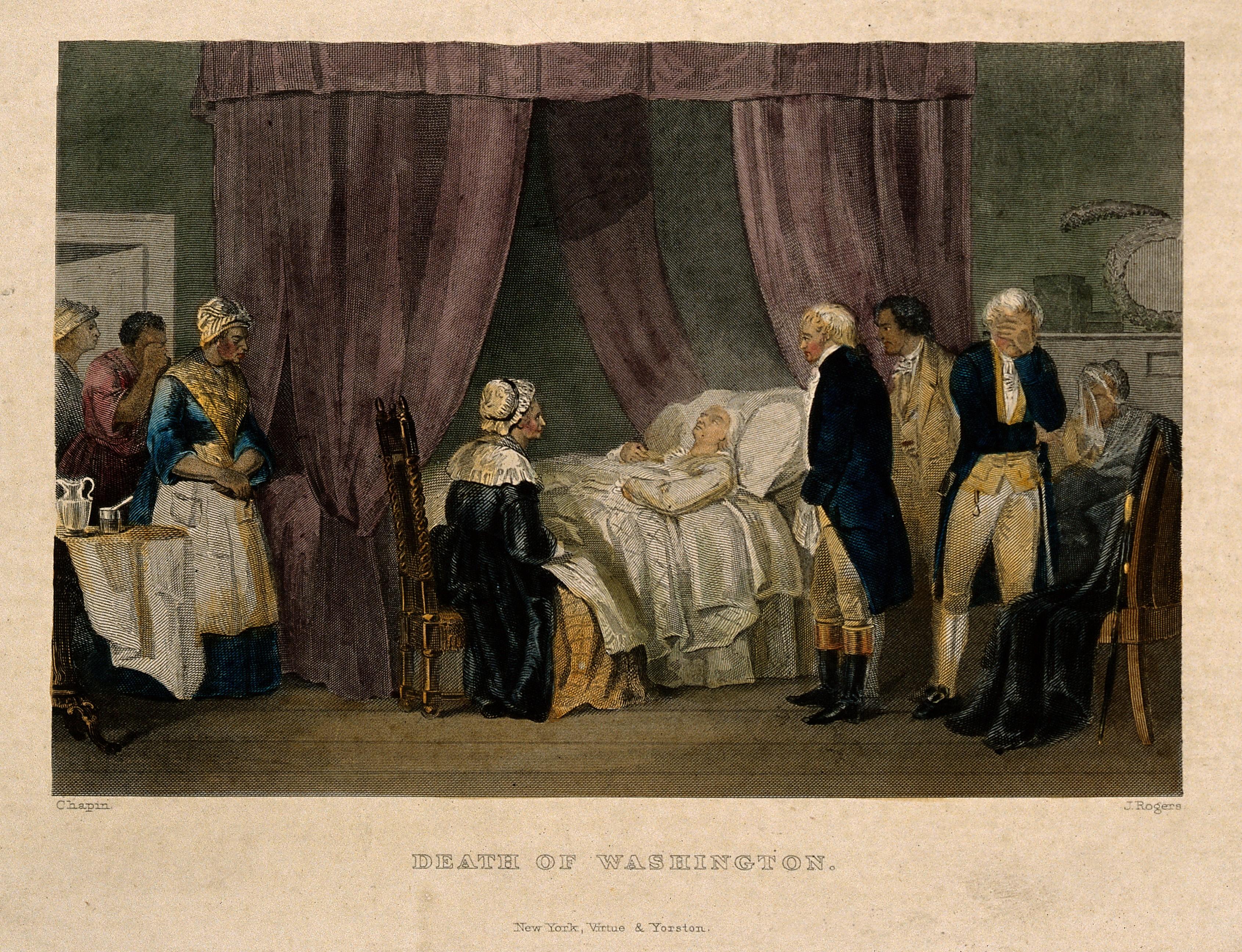 File George Washington On His Deathbed 1799 Coloured