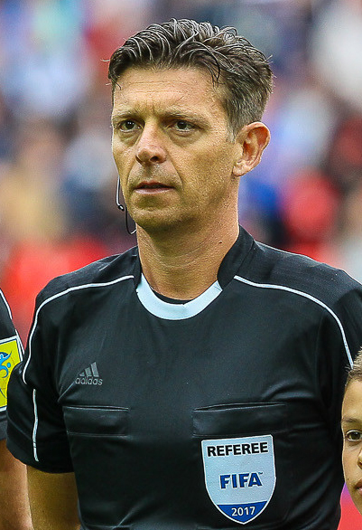 The 44-year old son of father (?) and mother(?) Gianluca Rocchi in 2018 photo. Gianluca Rocchi earned a  million dollar salary - leaving the net worth at  million in 2018