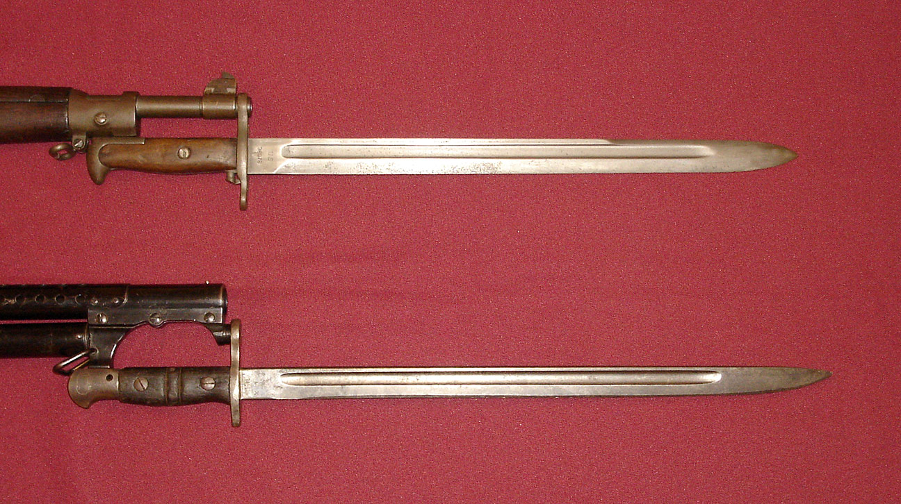 American Model 1917 bayonet with wire-hanger scabbard 1918 marked ...