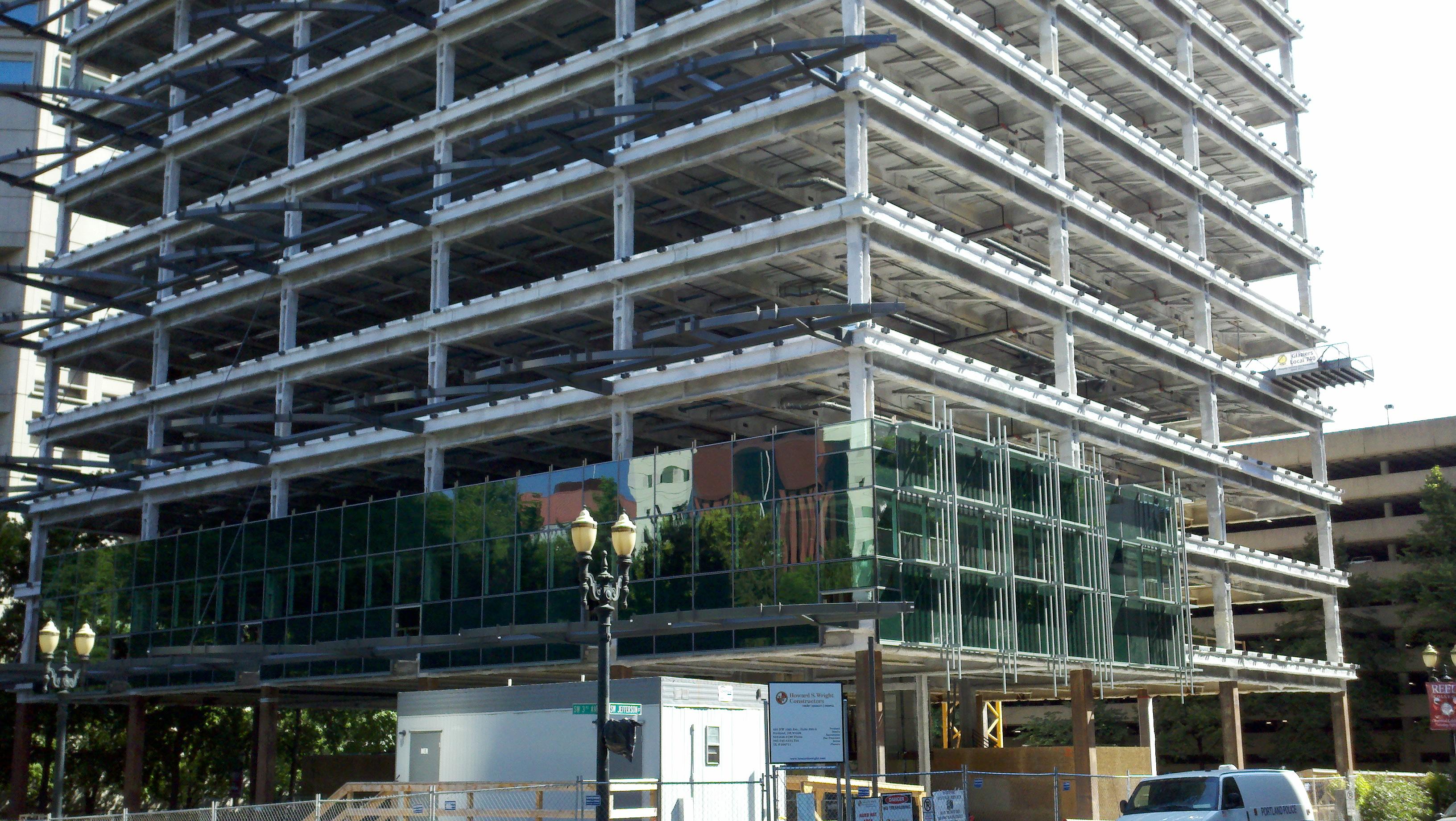 file green wyattfederal building under remodel bottom portland