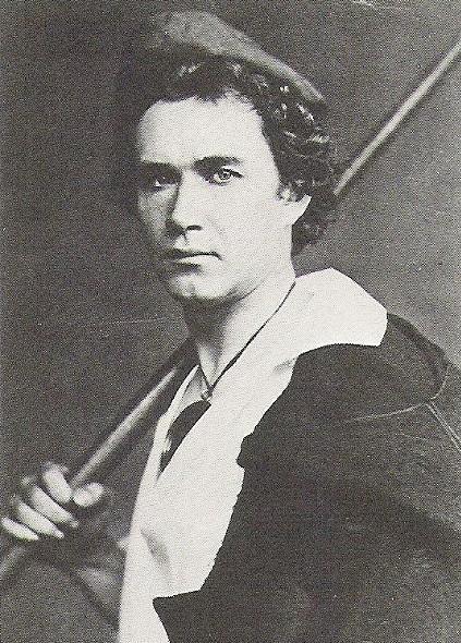 Harald Scharff caracterizado para una representación del ballet Nápoles, 1860.
