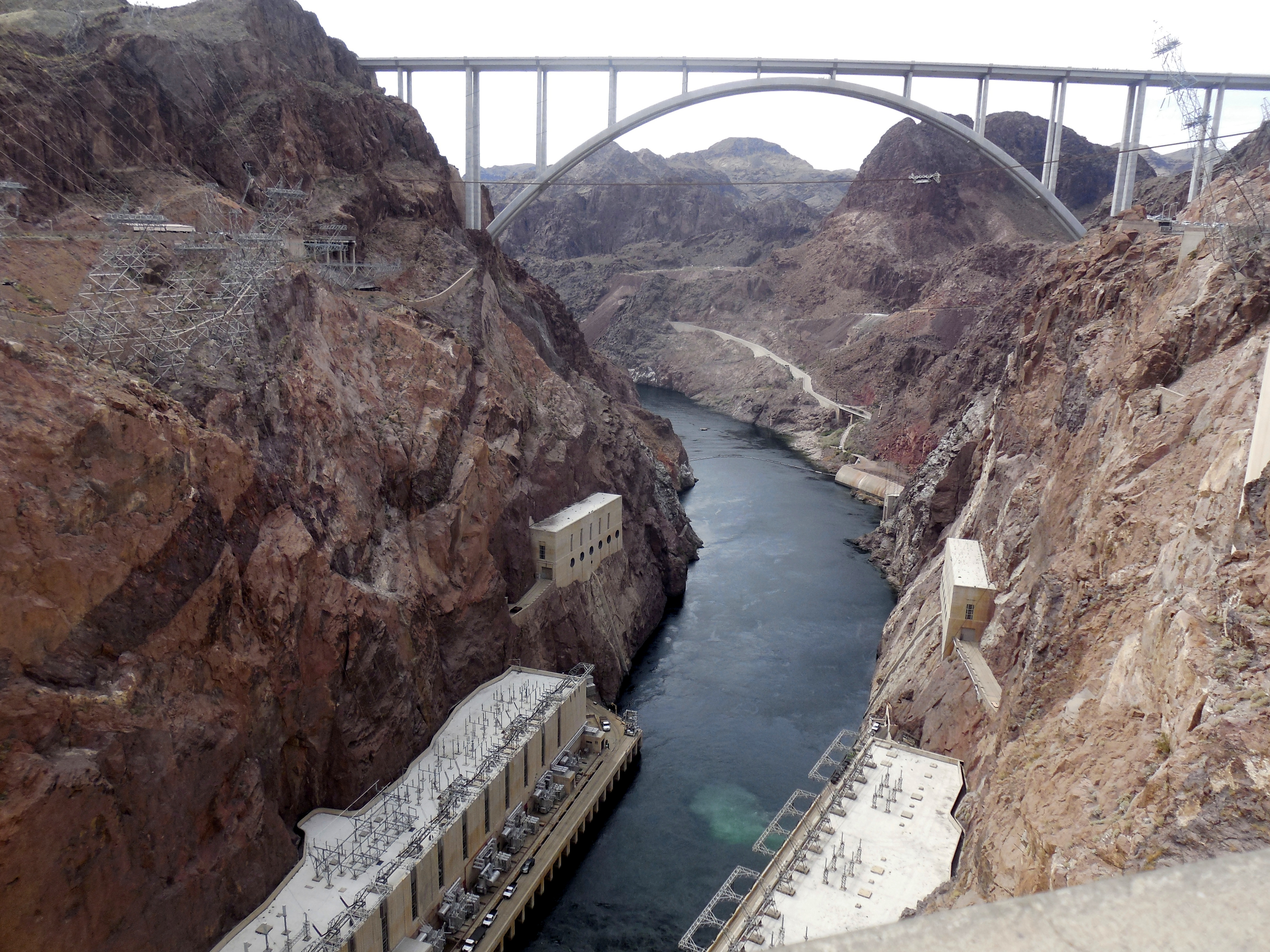 Hoover Dam in the Black Canyon of the Colorado River, on the border- Most surreal places to visit