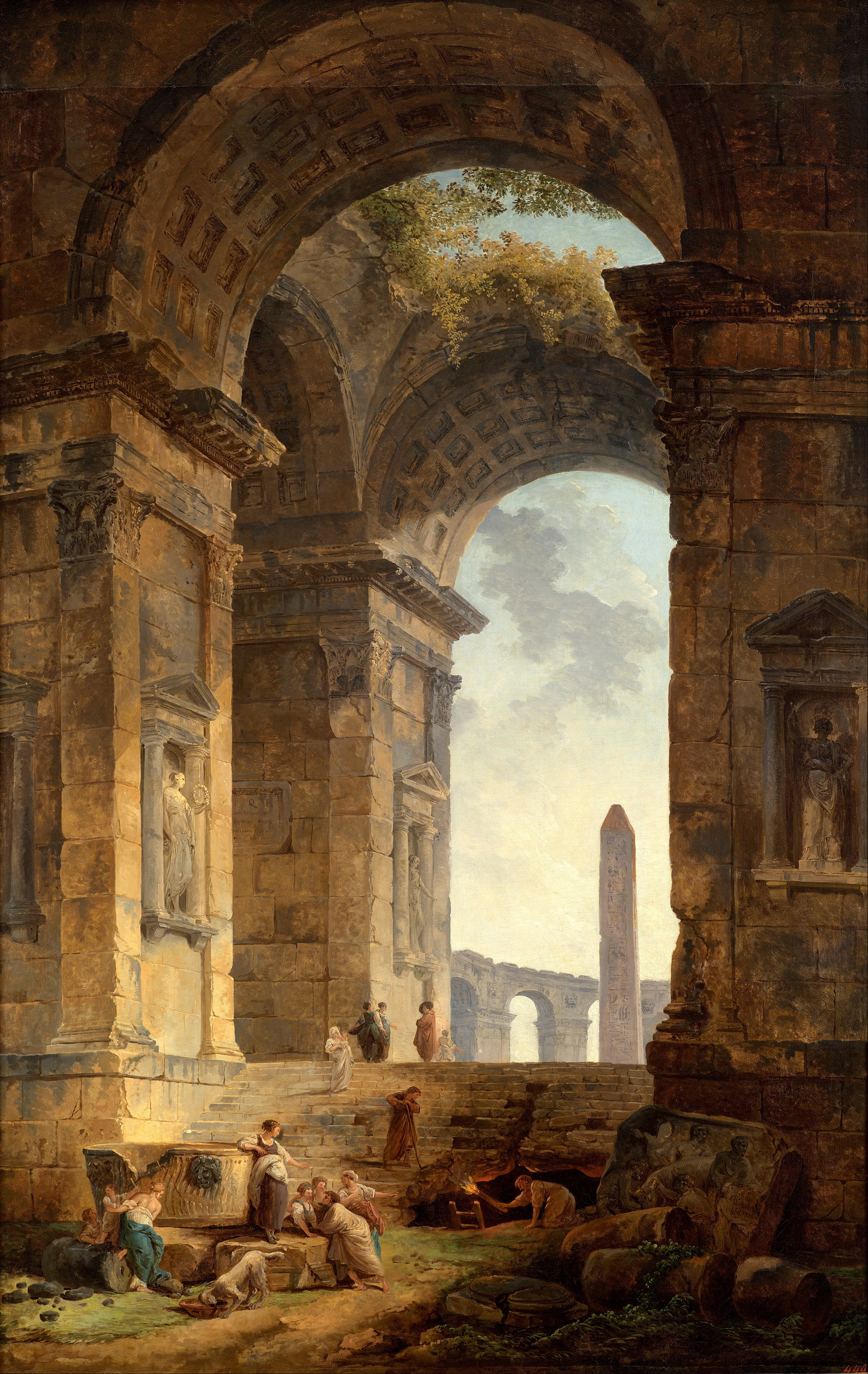 File:Hubert Robert - Ruins with an obelisk in the distance - Google ...: commons.wikimedia.org/wiki/file:hubert_robert_-_ruins_with_an...