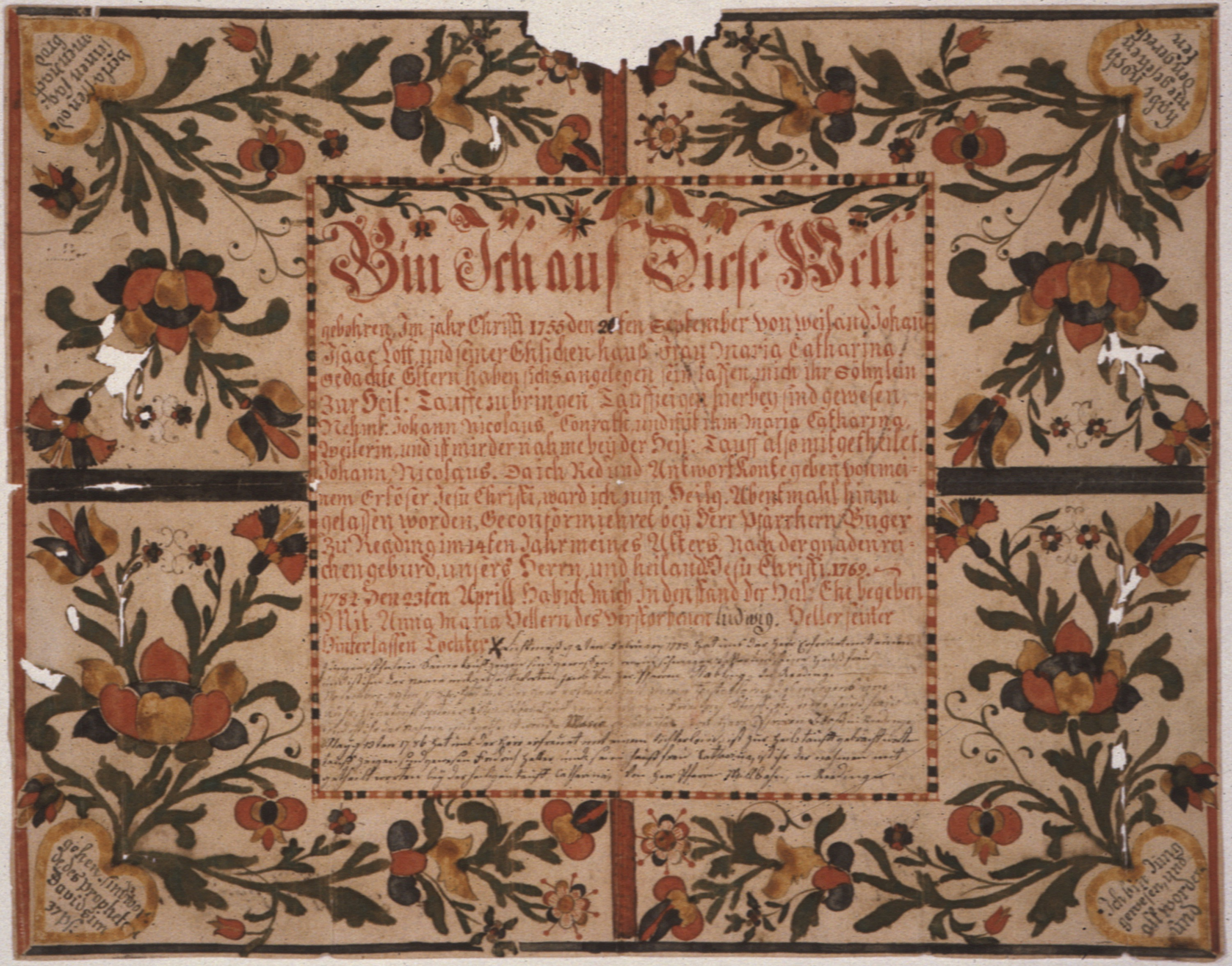 Revolutionary fraktur Family Found File illustrated Record War In qtwaYOa
