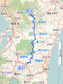 Japan National Route 265 (OpenStreetMap).png