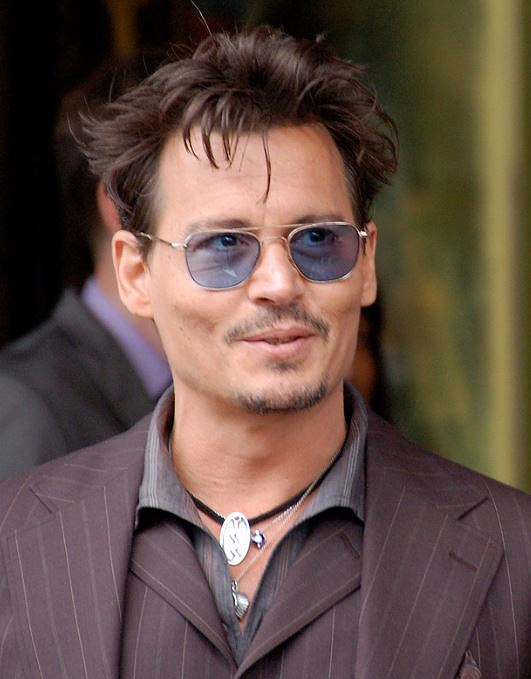 Depp at a ceremony for Jerry Johnny Depp