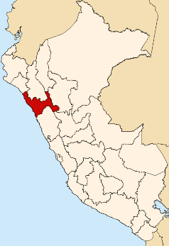 Location of the La Libertad region in Peru