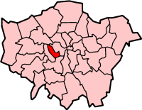 Kensington and Chelsea shown within Greater London