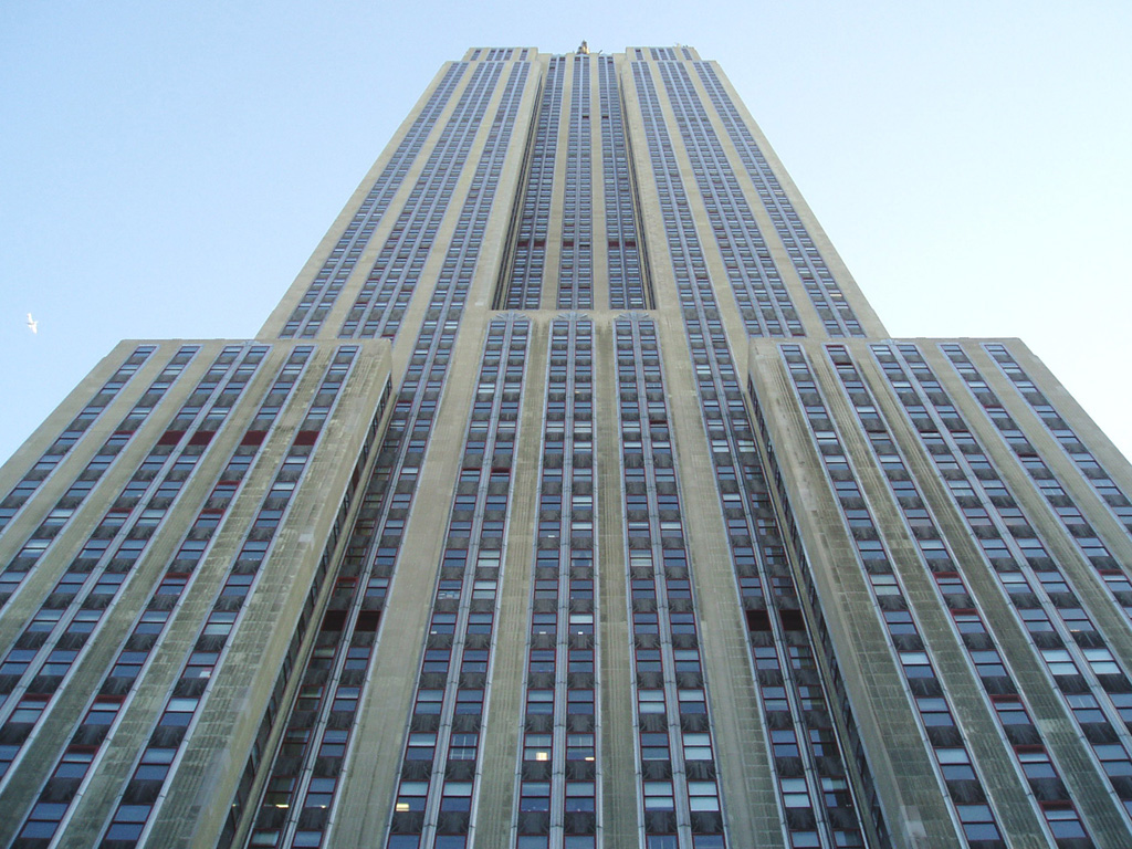Description Looking Up at Empire State Building.JPG