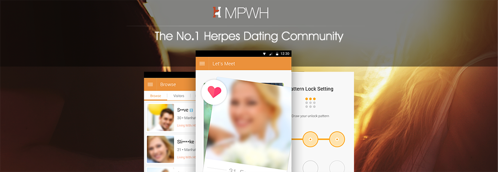 Online dating with herpes